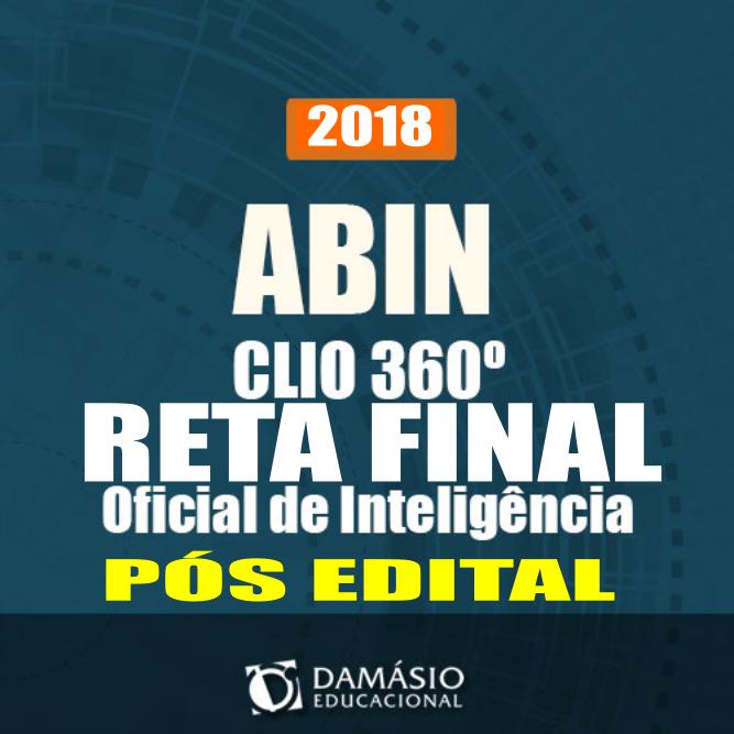 CURSO ABIN 2018-RETA FINAL-CLIO/DAMÁSIO